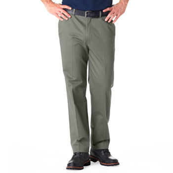 Haggar® Men's No-Iron Flat Front Office Khaki Pant - Lead