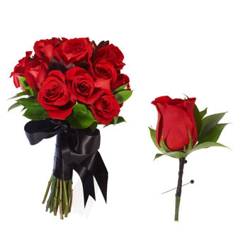 Rose Elegant Wedding Collection Add On Bouquets & Boutonniere 4pk