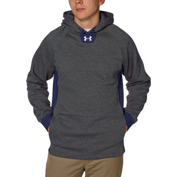 Under Armour Men's Signature Sideline Storm Hoodie - Carbon Heather / Navy