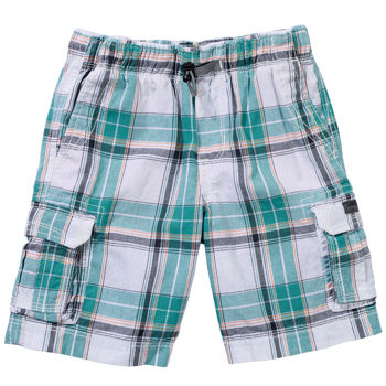 Unionbay Boys Pull On Cargo Short White Multiplaid Costco Products