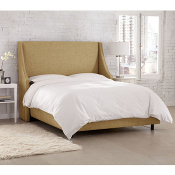 Clybourne Cal King Upholstered Wingback Bed - Assorted Colors