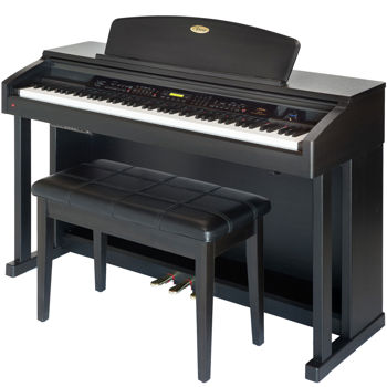 Artesia AP-8 Upright Digital Piano Bundle Dark Rosewood