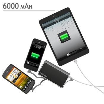 myCharge Portable Powerbank Charger | 6000mAh - Black