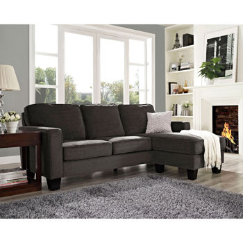 Patterson Fabric Sectional - Pewter