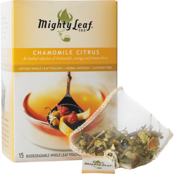 Mighty Leaf Whole Leaf Tea Bags Chamomille Citrus 15-ct