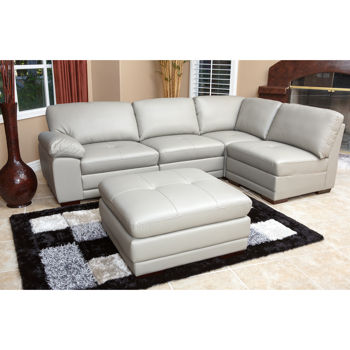 Portman Leather 5-piece Modular Sectional