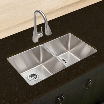Hahn™ Chef Series Handmade Extra Large Equal Double Bowl Sink