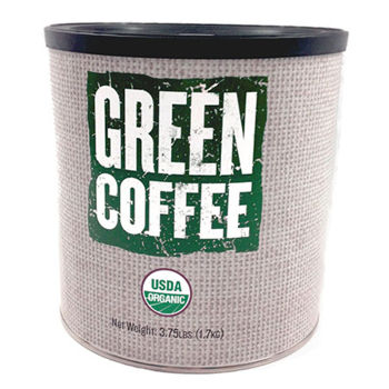 Organic Green Unroasted Arabica Coffee 3.75 lb Can 6-pack