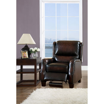 Bari Leather Pushback Recliner